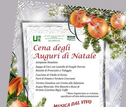 Unitre Orvieto invita tutti alla Cena degli auguri di Natale