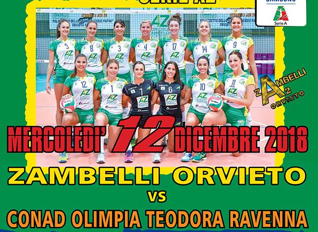 Per la Zambelli Orvieto è tempo di Coppa Italia, mercoledì arriva il Ravenna delle ex