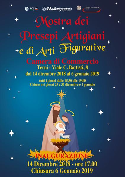 Inaugurazione della Mostra dei Presepi Artigiani 2018, organizzata da ANAP – ANCOS Confartigianato Imprese Terni