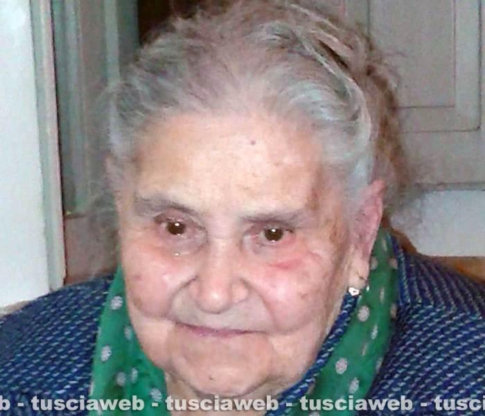 Acquapendente in lutto per la scomparsa di Aldenisia Perugini