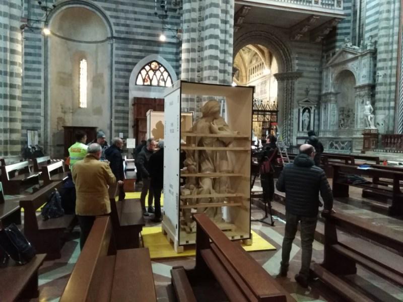 Un grande progetto per un atteso ritorno. L'Angelo e la Vergine dopo due secoli sono rientrati in Duomo