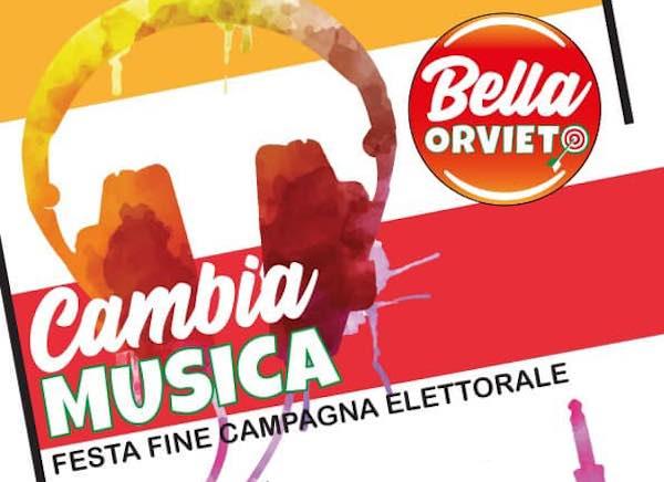 """Bella Orvieto """"Cambia Musica"""" per l'ultimo appuntamento con gli elettori"""