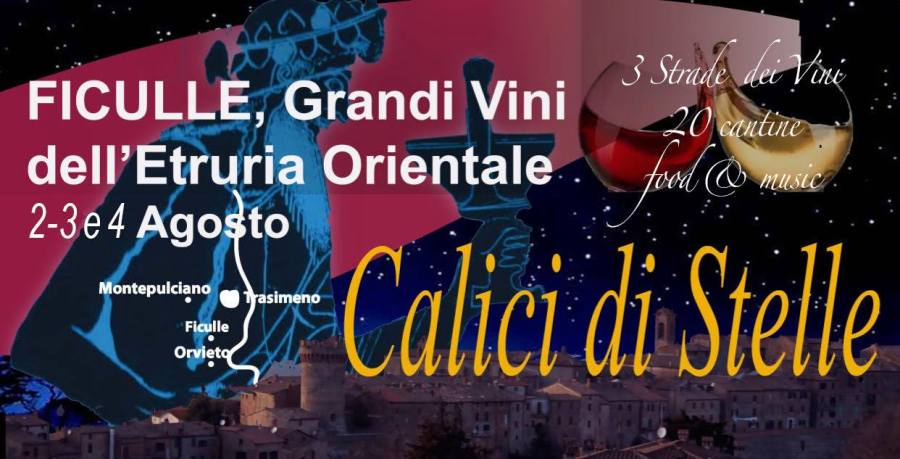 I vini di Orvieto, Montepulciano e del Trasimeno si intrecciano a Ficulle sotto le stelle nelle terre degli antichi etruschi