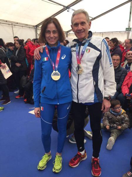 Medaglia d'oro Campionati Europei Master all'atleta orvietana Valeria Pedetti