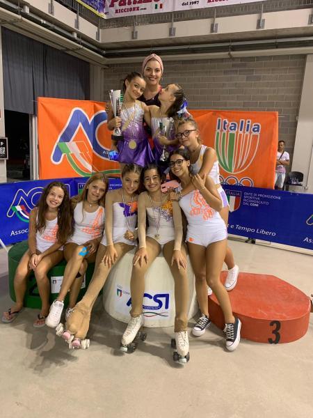A.S.D. Roller Fly guadagna 4 medaglie d'oro al Campionato Nazionale assoluto Acsi