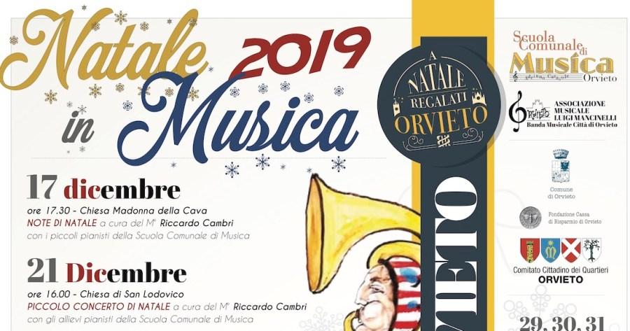 """Tutti i Concerti della Scuola Comunale di Musica """"A. Casasole"""" di Orvieto per le festività 2019/2020"""