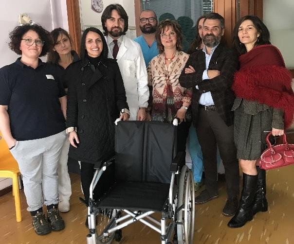 Donata una sedia a rotelle al Reparto di Riabilitazione Intensiva di Amelia