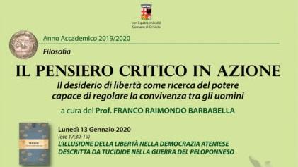 Pensiero critico in azione, all'Unitre con il prof. Barbabella