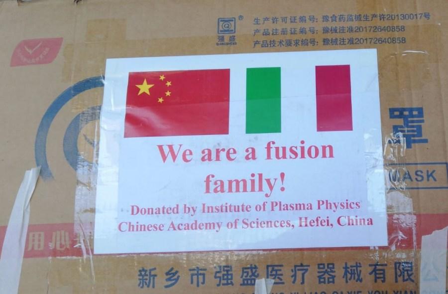 L'Accademia Cinese delle Scienze dona 1500 mascherine  all'Unitus