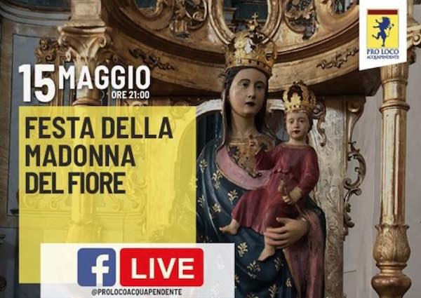 Tra fede e laicità Acquapendente festeggia la Madonna del Fiore online