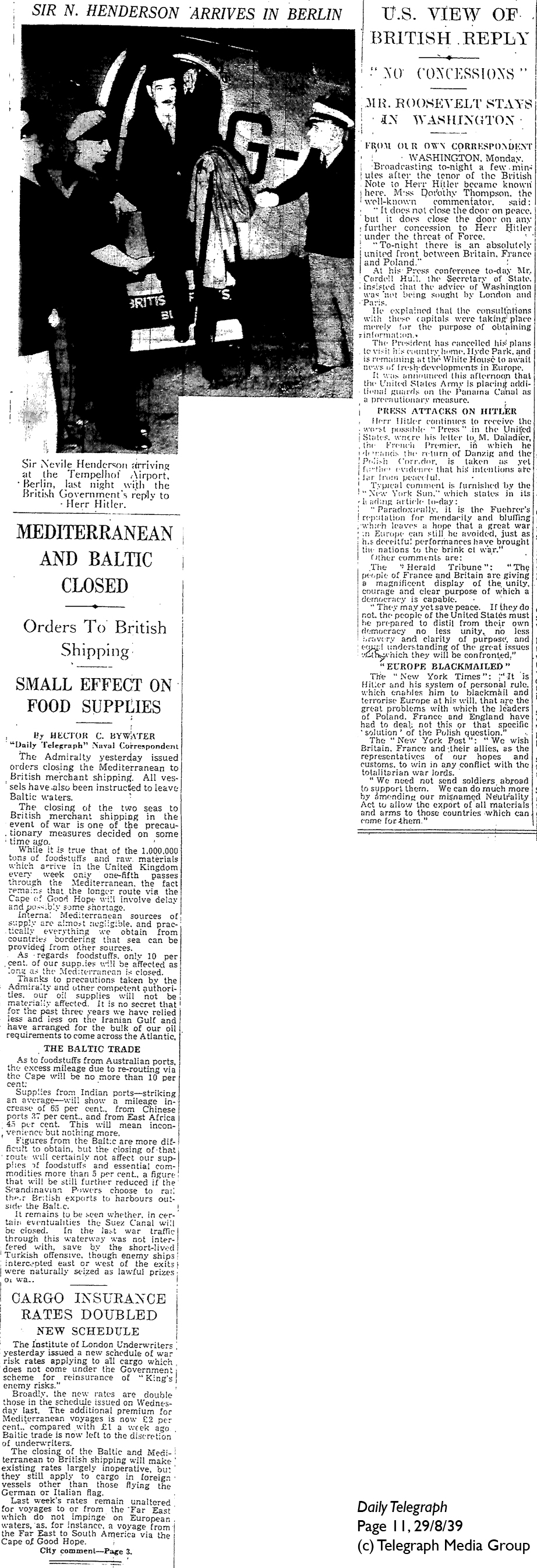 Daily Telegraph 29-8-39 Page 11