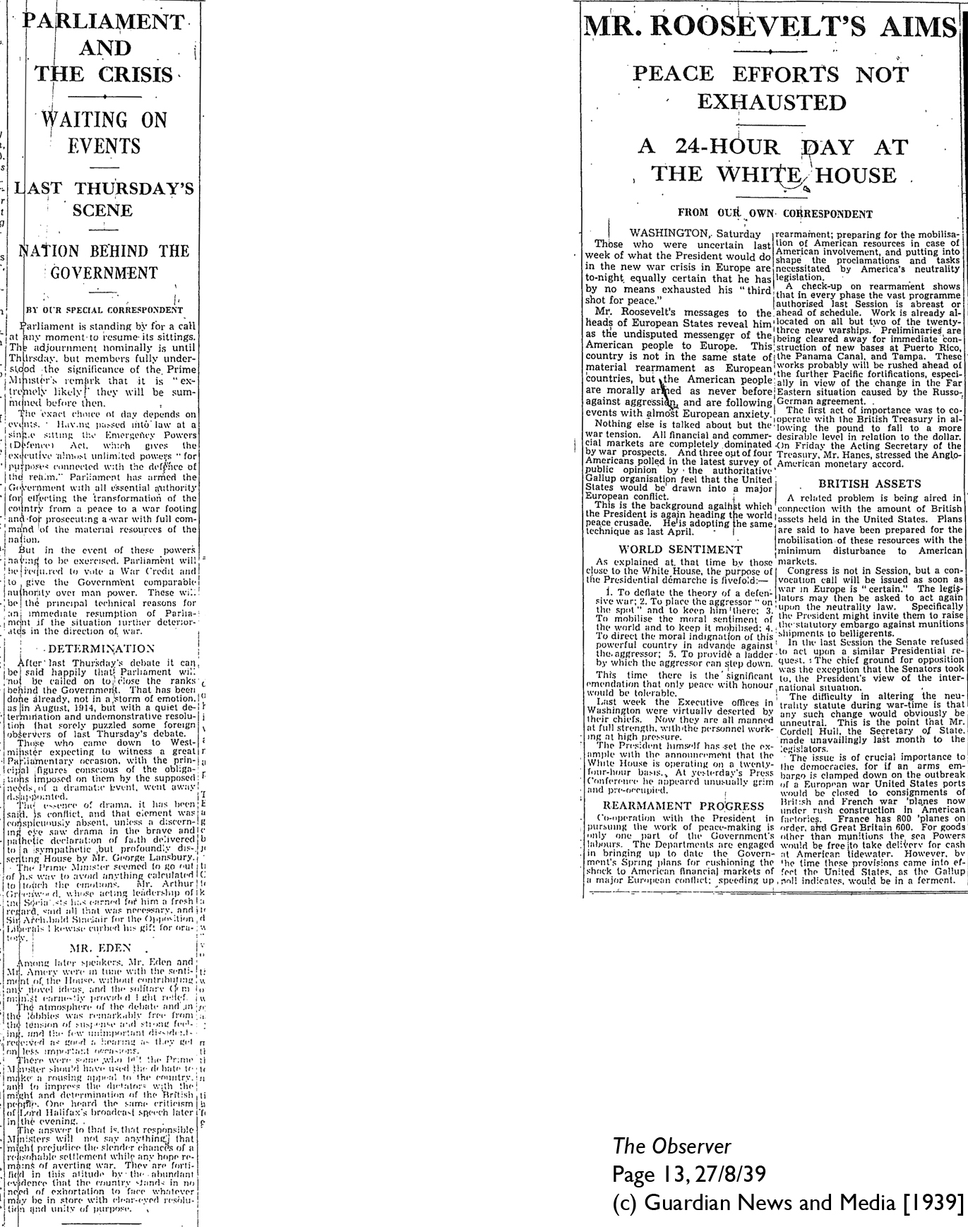 The Observer 27-8-39 Page 13