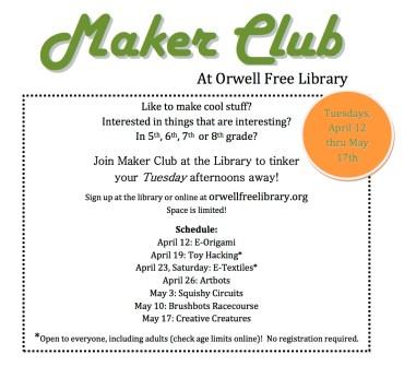 Maker Club flyer