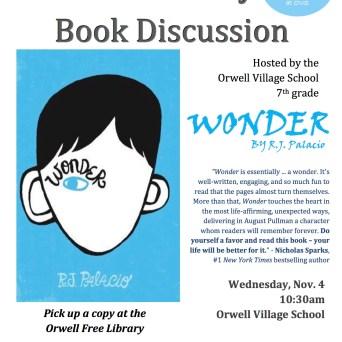 Wonder book discussion