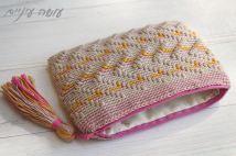 עושה עיניים - פספסים - ארנקים בטקסטורות - זיגזגים    Osa Einaim - Passpasim - Crochet textured purses pattern