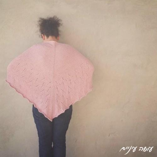 Osa Einaim - Spring Etude Shawl, Tunisian crochet    עושה עיניים - שאל בסריגה טוניסאית