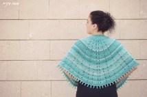 Sunray Shawl knitted by Osa Einaim || עושה עיניים - שאל סרוג בדוגמת Sunray Shawl