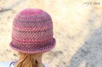 עושה עיניים - כובע סרוג בדוגמת איקסים מפוצלים || Osa Einaim - Crochet crossed center sc hat