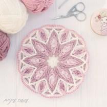 עושה עיניים - מנדלה בסריגת אוברליי || Osa Einaim - Overlay crochet mandala