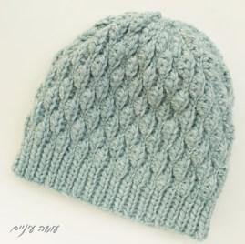 כובע סרוג בדוגמת Wynn || עושה עיניים