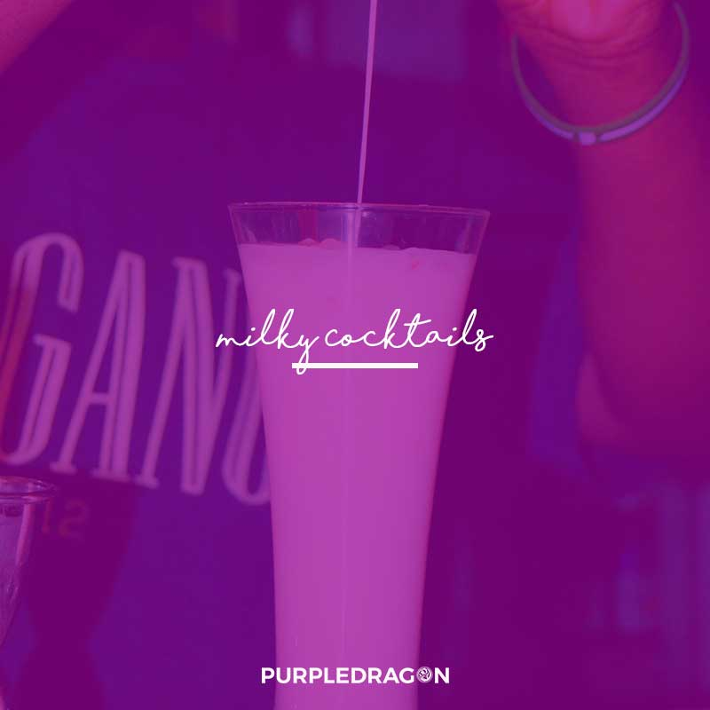 advert for purple dragon milky cocktails