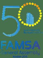 famsa 50th anniversary logo