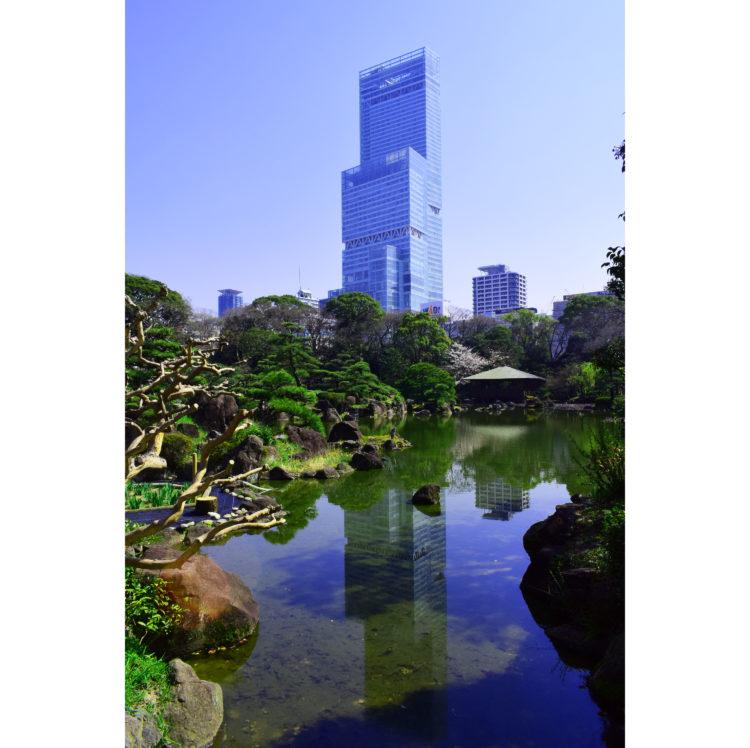 庭园和阿倍野Harukas照片