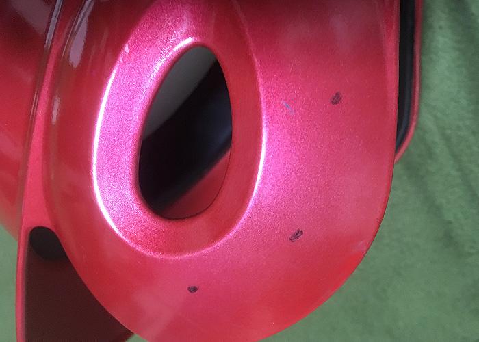 草野球のヘルメットにフェイスガード C-FLAPを塗装して付けてみた