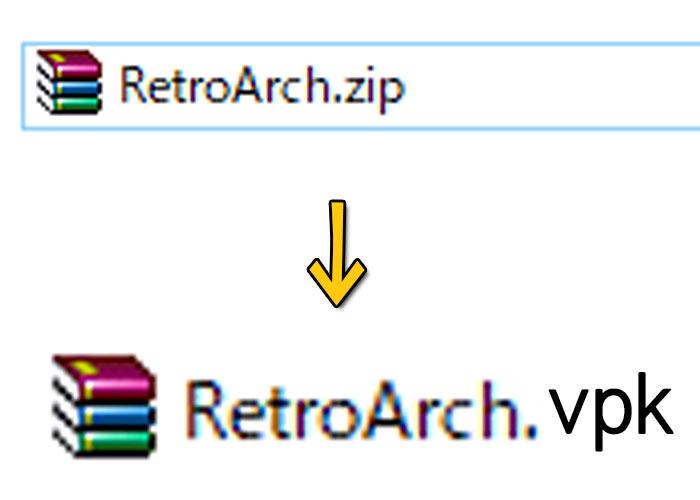 PsvitaにRetroArchを入れたときの使い方