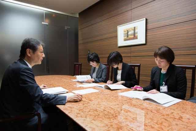 日本生命の会議風景
