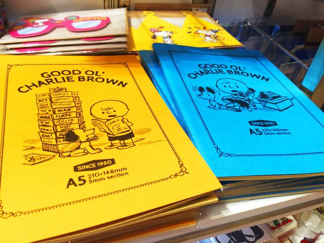 阪急うめだスヌーピーフェスティバル2016で販売しているヴィンテージデザインのノート