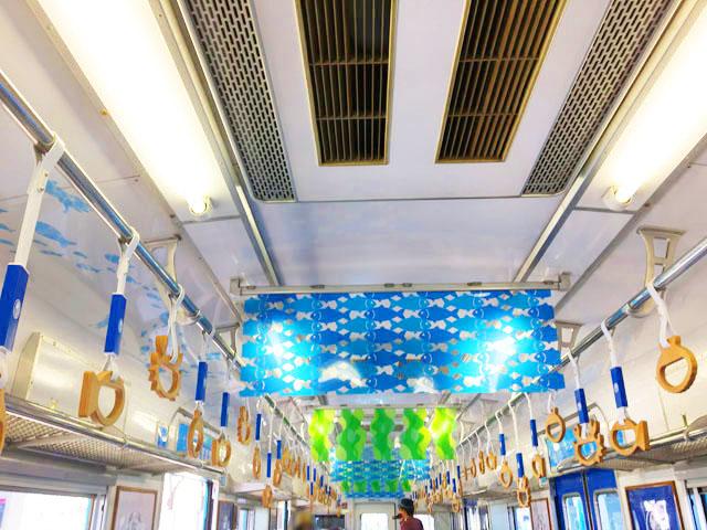 加太さかな線,めでたい電車,かい,水色の電車,南海電鉄,加太線,