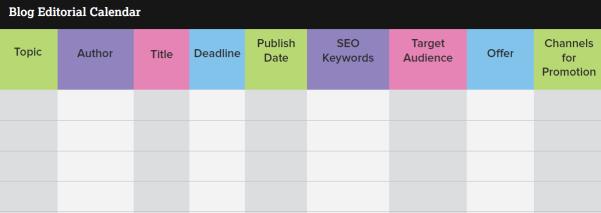 خطة المحتوى