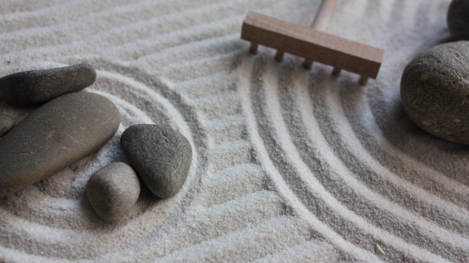 Mesa de areia Zen