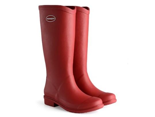 havaianas - rain boots - cano longo - adulto - vermelho - ModaNews