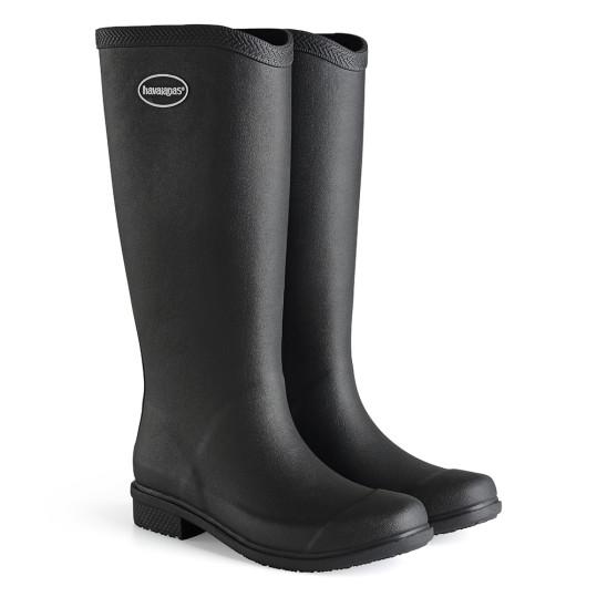 havaianas - rain boots - cano longo - adulto - preto - ModaNews