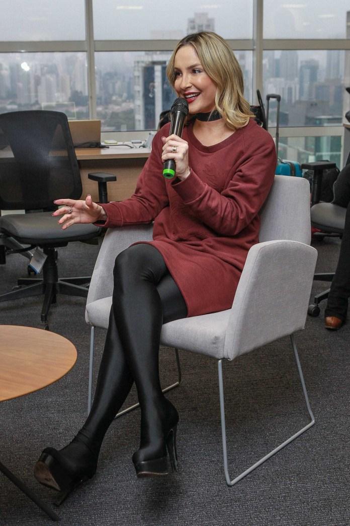 Claudia Leitte no novo espaço inaugurado em SP