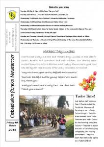 Newsletter 04.03.16