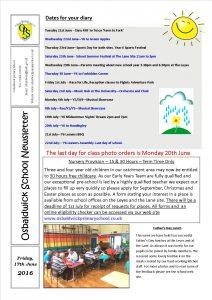 Newsletter 17.06.16