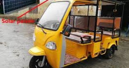 SOLAR POWERED TRICYCLE.