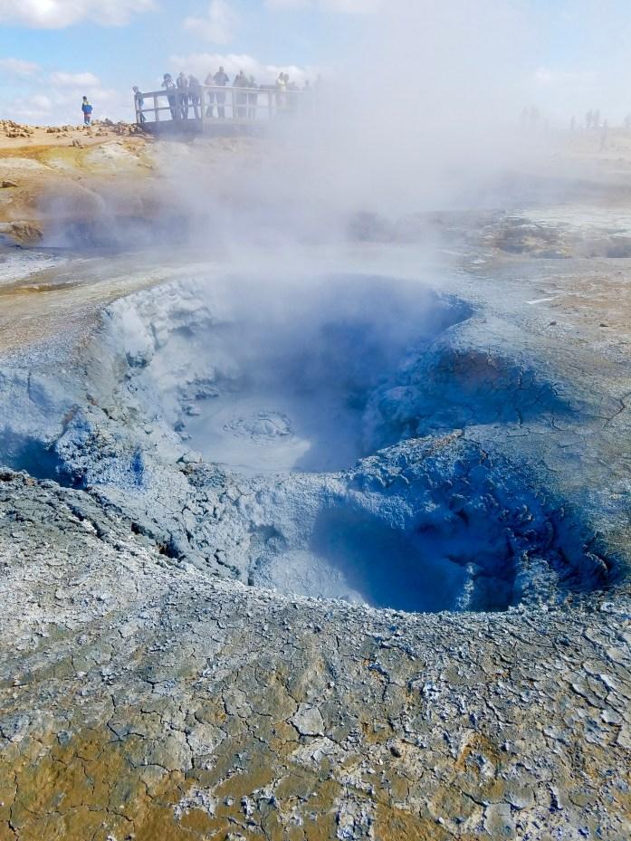 Boiling mud pots at Hverir