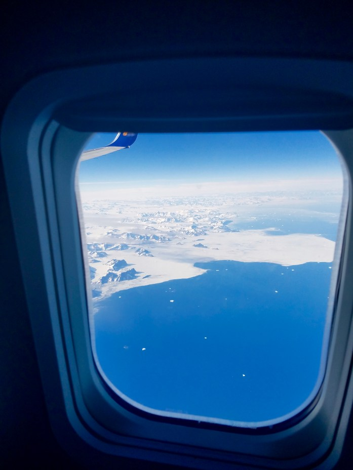 A glimpse of Greenland on our journey home.