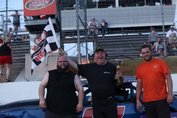 OSCAAR Hot Rod Series Top 3 at Sunset Speedway
