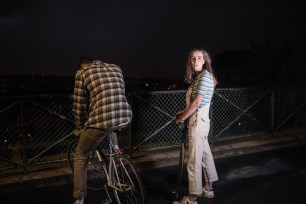Adélaïde Charlier & Tim in a film by Pensée Sauvage, directed by Solal Moisan & Camille Étienne, DOP Martin Laugery, Costume Design by Entremains.