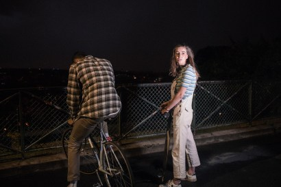 Adélaïde Charlier & Tim in a film by Pensée Sauvage, directed by Sola Moisan & Camille Étienne, DOP Martin Laugery, Costume Design by Entremains.