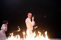 Les Bâtards Dorés - 100 millions qui tombent, filage au Théâtre de la Cité (TNT), Toulouse. Création lumière Lucien Valle. Ferdinand Niquet-Rioux & Lisa Hours.