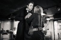 No Limit, répétitions au Cielito Lindo. Mise en scène Robin Goupil assisté par Arthur Cordier. Stanislas Perrin & Victoire Goupil.