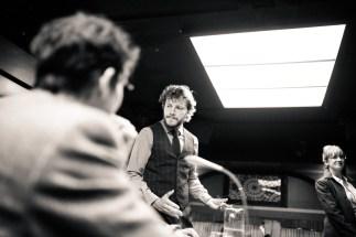No Limit, répétitions au Cielito Lindo. Mise en scène Robin Goupil assisté par Arthur Cordier. Augustin Passard, Laurène Thomas, & Thomas Gendronneau.
