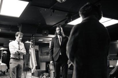 No Limit, répétitions au Cielito Lindo. Mise en scène Robin Goupil assisté par Arthur Cordier. Théo Kerfridin, Thomas Gendronneau & Victoire Goupil.