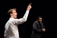 Le Royal Velours - Je m'en vais mais l'État demeure, filage à La Scala, Paris. Mise en Scène Hugues Duchêne. Hugues Duchêne & Laurent Robert.
